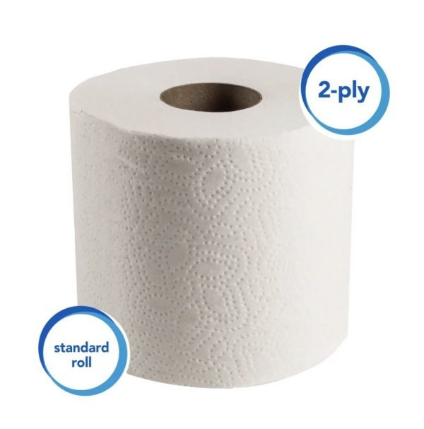 Scott® 2-Ply Toilet Paper, 550 Sheets Per Roll, Pack Of 80 Rolls