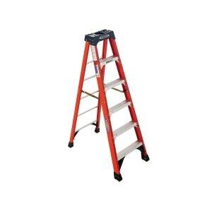 6ft Fiberglass Step Ladder - 300 lb Load