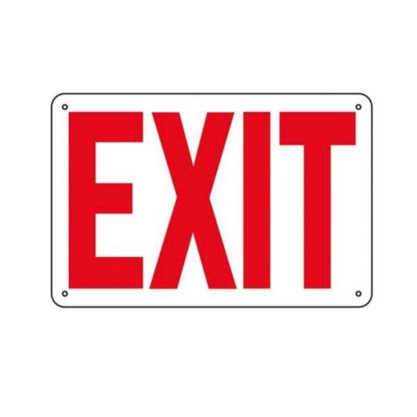 Aluminum Exit Sign - 10 in x 14 in