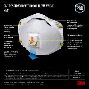 3M Dust Mask 8511 (Pack of 10)
