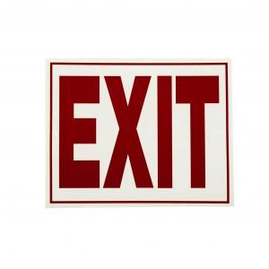 Glow In The Dark Exit Sign - 11 in x 8 in