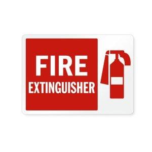 Fire Extinguisher Aluminum Sign - 10 in x 7 in