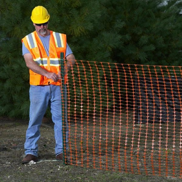 Orange Safety Fence - 4 ft x 1000 ft