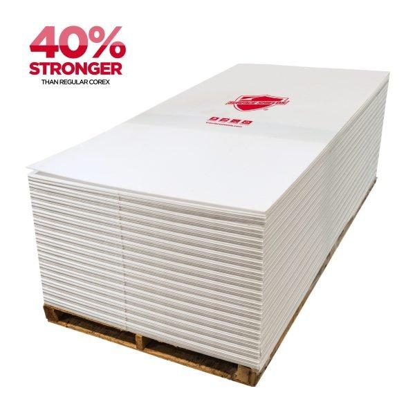 "Plasti-Shield PRO Corrugated Plastic Sheeting - 44"" x 93"""