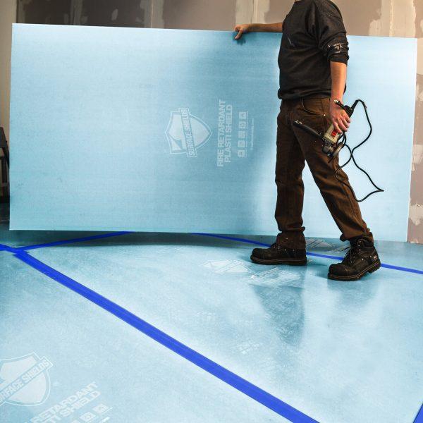 "Plasti-Shield Pro Fire Retardant Corrugated Plastic Sheeting - 44"" x 93"""