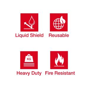 Plasti-Shield Pro Fire Retardant Corrugated Plastic Sheeting - 44
