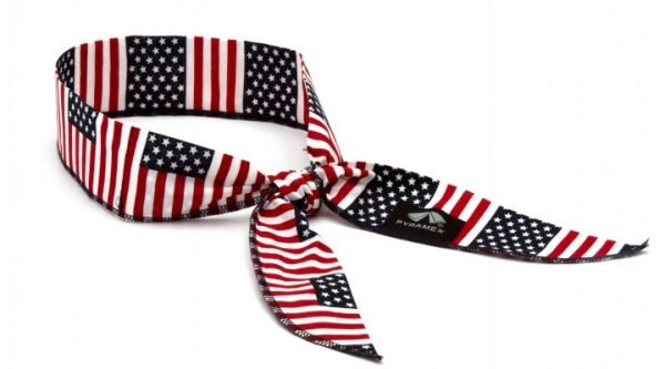 CNB12PKFLG_Cooling Beaded Bandana - American Flag