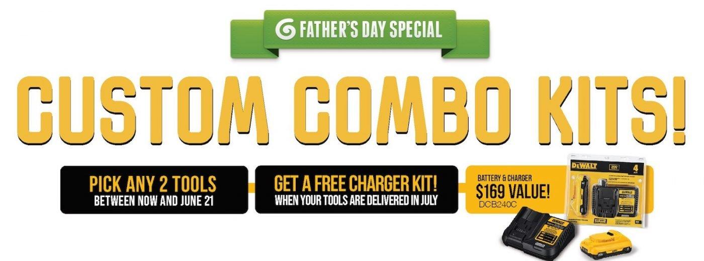 Fathers Day Dewalt Combo promo - Celtic Building Supplies