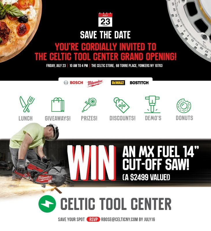 The Celtic Tool Center Grand Opening rsvp