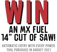 win-an MX Fuel 14 inch cut off saw